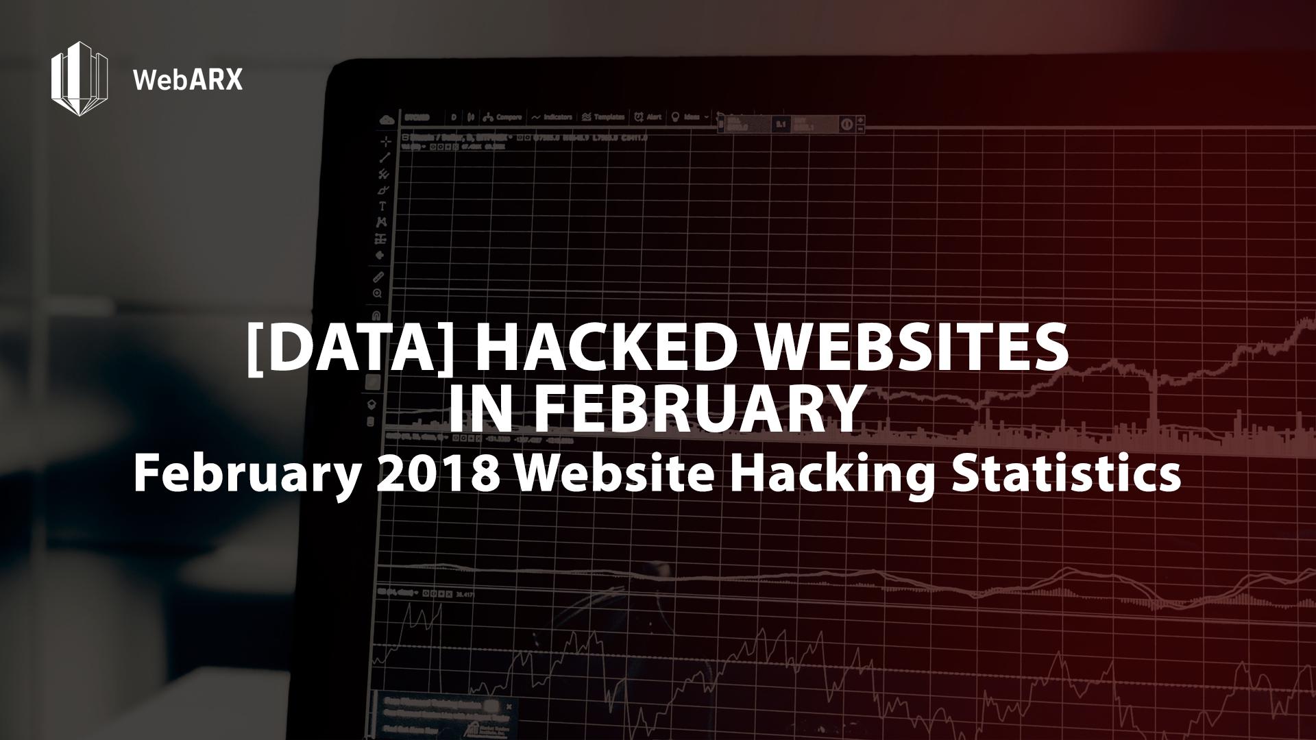 february 2018 website hacking statistics webarx