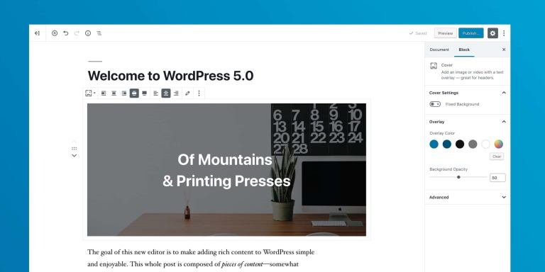 Updating to wordpress 5.0