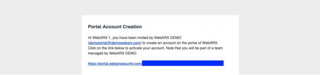 Team Management webarx