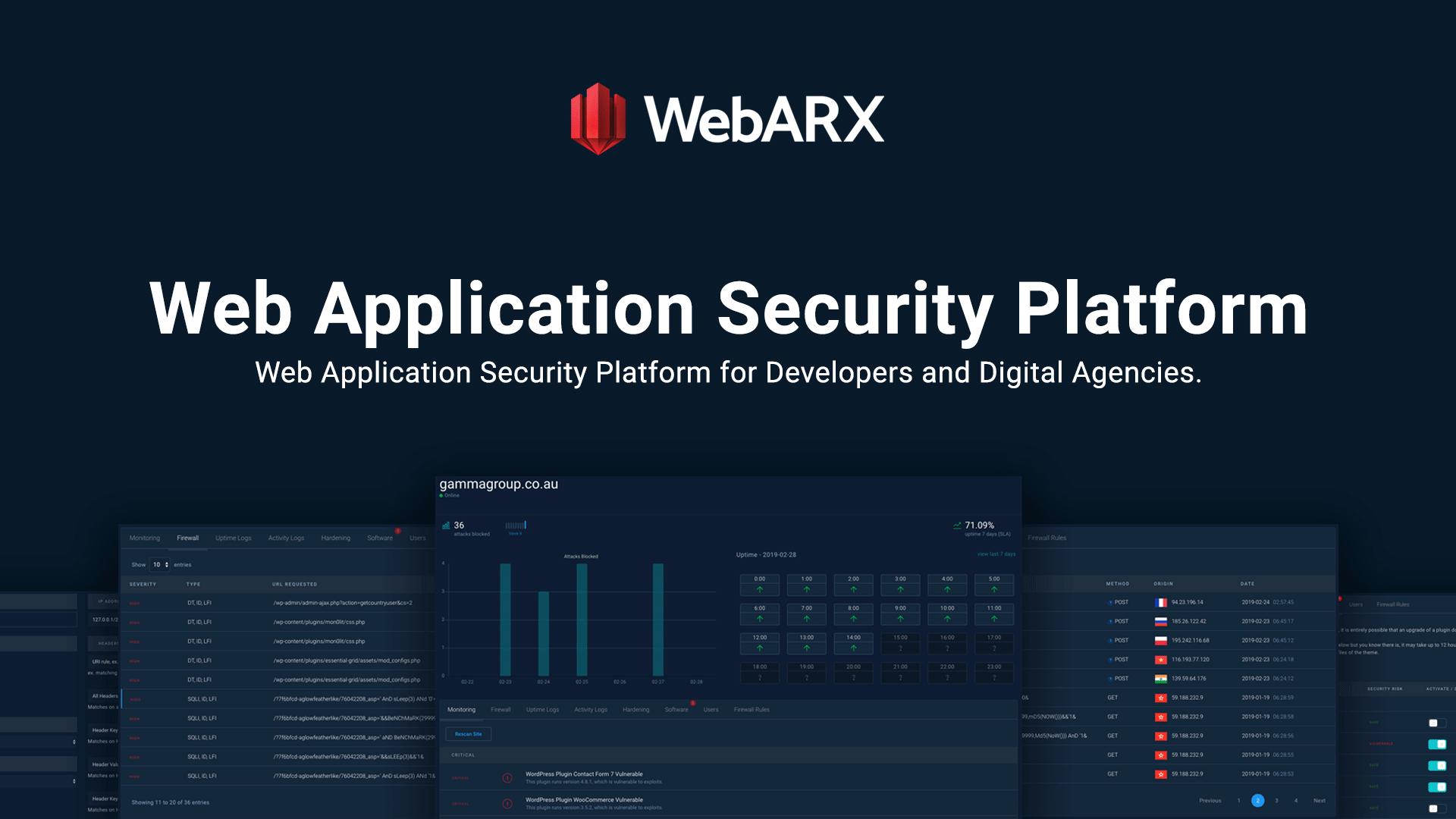 WebARX - Web Application Security Platform   WordPress & PHP