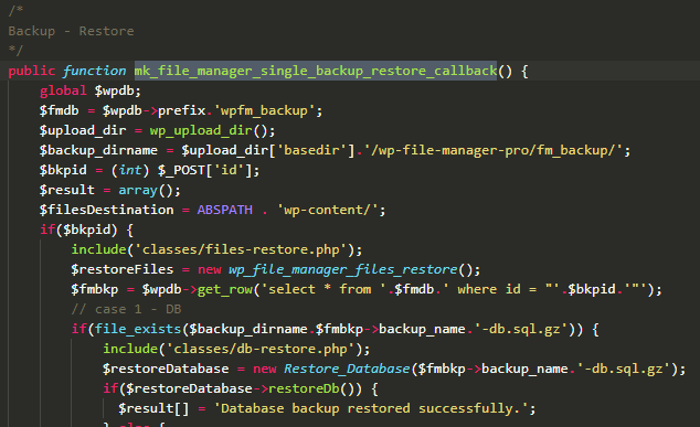 wordpress plugin file manager backup webarx