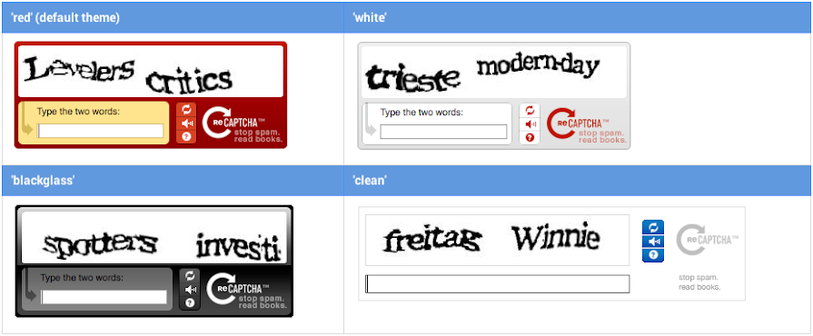 reCAPTCHA for WordPress