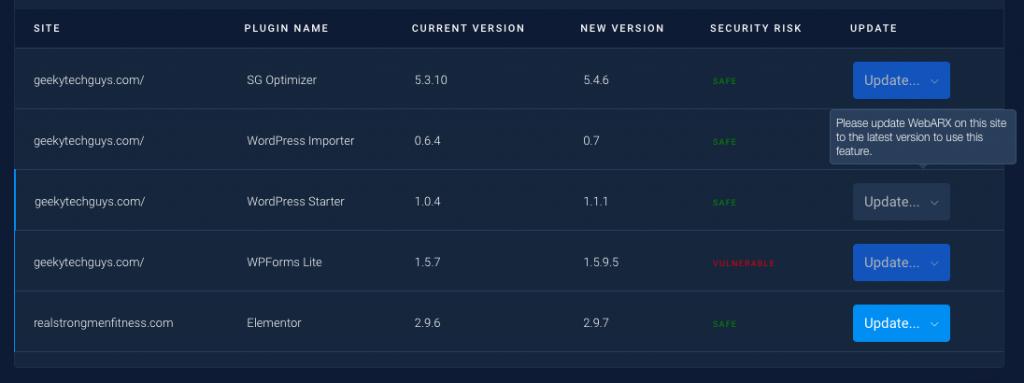Auto-Update Vulnerable Plugins